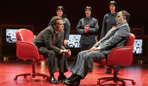 Franco Pomponi as Nixon listens to Chairman Mao (Photo by Ken Howard/Opera Theatre of St. Louis)