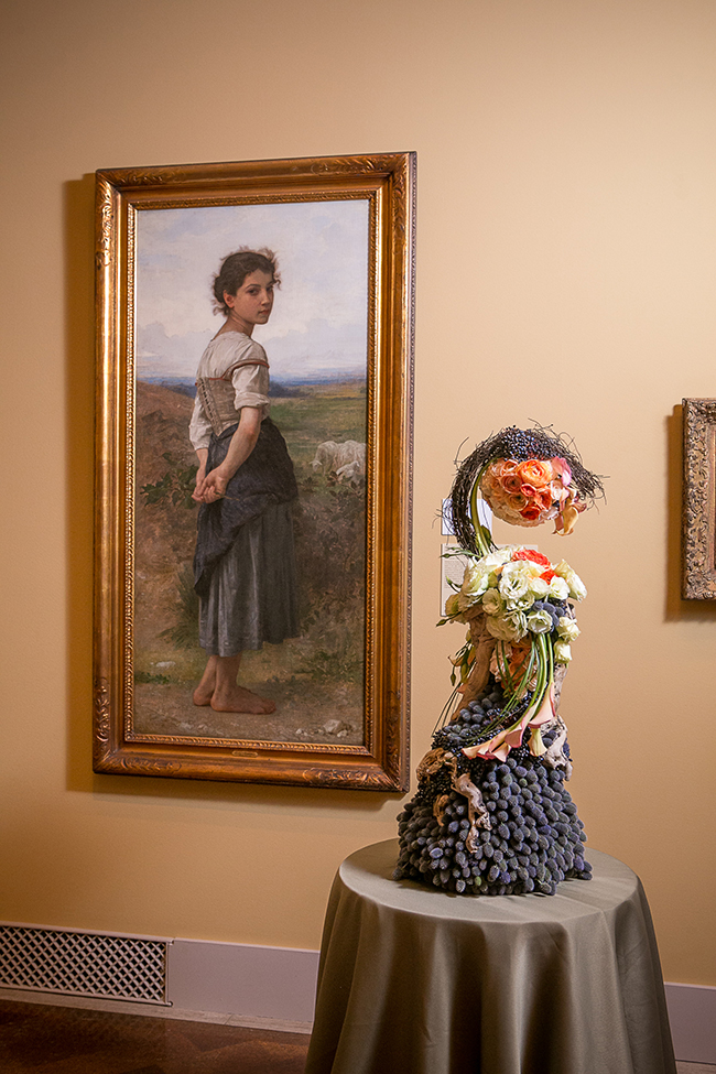 "Brock Saucier's floral interpretation of Salvador Dali's ""Specter of the evening"" (Courtesy SDMA)"