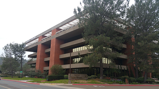 The iconic office building for The San Diego Union-Tribune will not be demolished for the apartment complex. (Photo by Ken Williams)