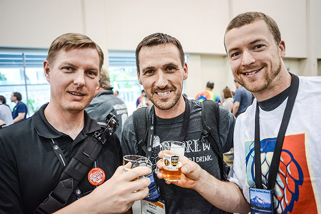 Brew's Up San Diego — the 2015 National Homebrewers Conference concludes June 13 at the Town & Country. Revelers enjoyed the 2014 conference. (Courtesy of National Homebrewers Conference)