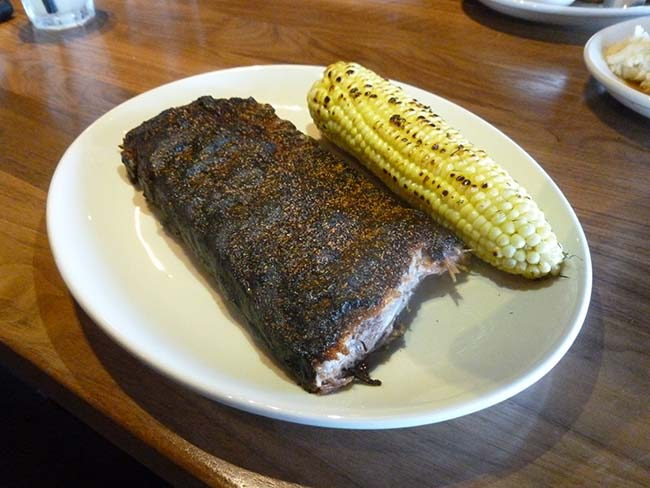 St. Louis ribs and roasted corn (Photo by Frank Sabatini Jr.)