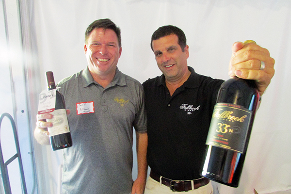 (l to r) Paul Fournier and Ted Gourvitz of Fallbrook Winery