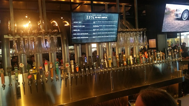 Yard House has more than 130 beers on tap (Photo by Ken Williams)