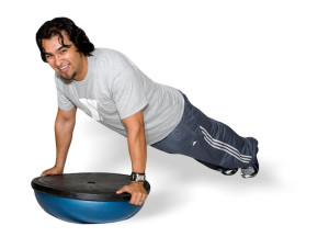 A YMCA member using BOSU (Courtesy )