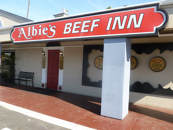 An understated façade conceals Albie's Beef Inn's rich history in Mission Valley. (Photo by Frank Sabatini Jr.)