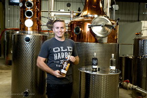Distiller Michael Skubic is excited about a new state law. (Courtesy of Old Harbor Distilling Co.)