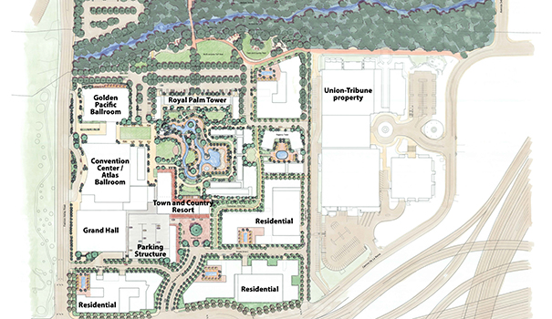 An architectural rendering of Town and Country's makeover plans (Courtesy of Burton Landscape Architecture Studio)