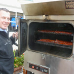 A meat smoker, Dalmatian and expert chef team