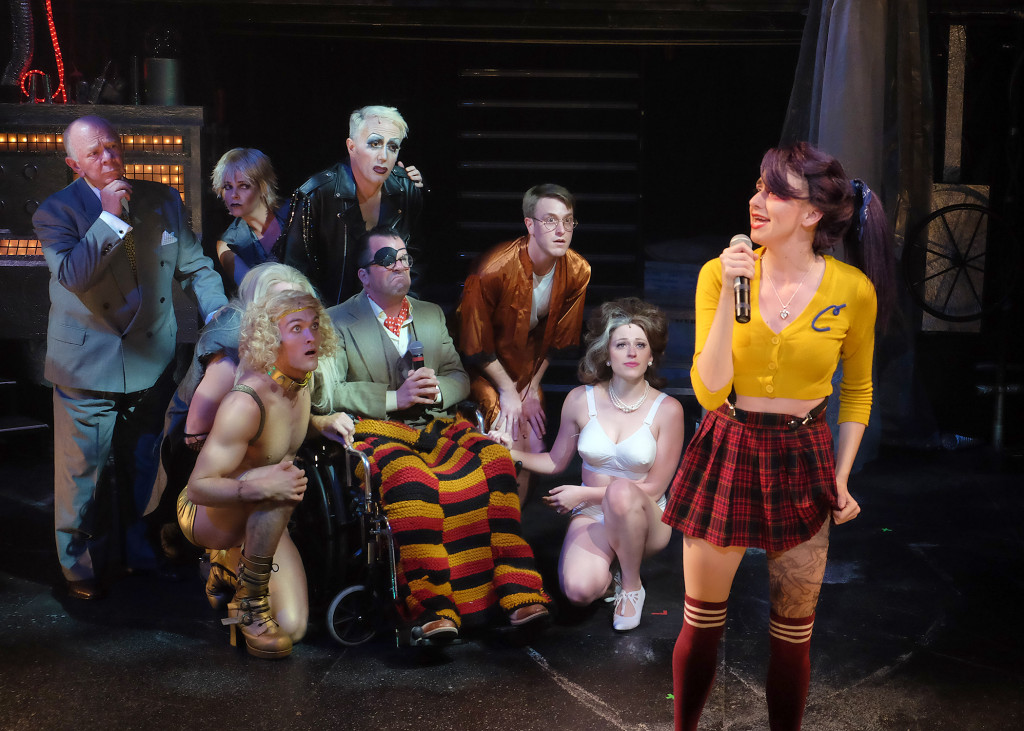 "The cast of ""Richard O'Brien's The Rocky Horror Show"" at Cygnet Theatre (Photos courtesy of Cygnet Theatre)"