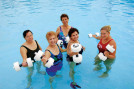The YMCA water exercise program significantly reduces bodyweight and is designed to help people who can't do weight-bearing exercise. (Courtesy of the YMCA)