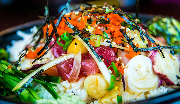 San Diego Poke Co.'s dressed-up ahi tuna bowl (Photo by Jersen Navasca)
