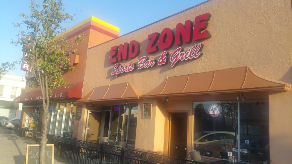 End Zone Sports Bar & Grill in North Park has reopened under new ownership and added an outdoor patio. (Photo by Ken Williams)