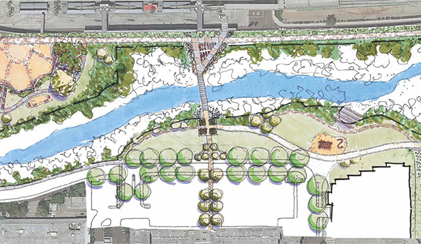 One of the conceptual drawings of the park at Town and Country Resort (Courtesy of MIG)