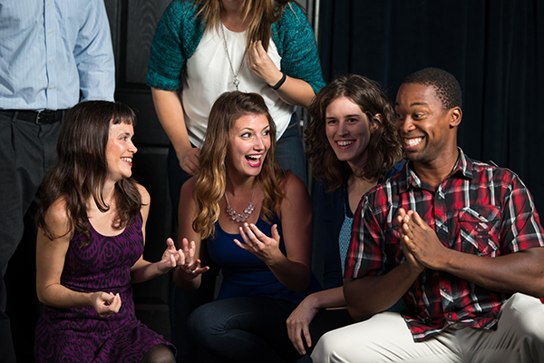 """""""A Moment of Truth"""" encourages audience members to become storytellers during the show. (Courtesy of Finest City Improv)"""