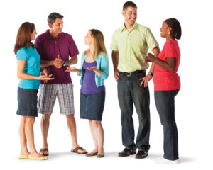 Replacing the usual sit down meeting with standing meetings is a good way to add non exercise activity to your day. (Courtesy of Mission Valley YMCA)