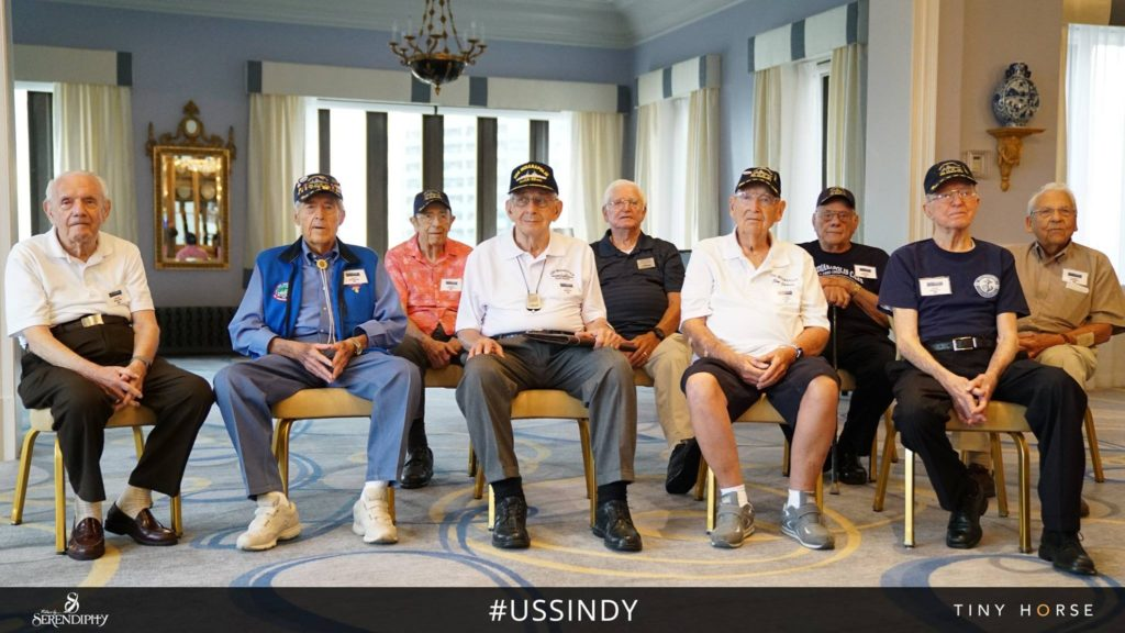 The survivors of the USS Indianapolis share their stories about their ship's tragic history. (Courtesy of the 'USS Indianapolis; The Legacy' filmmakers)