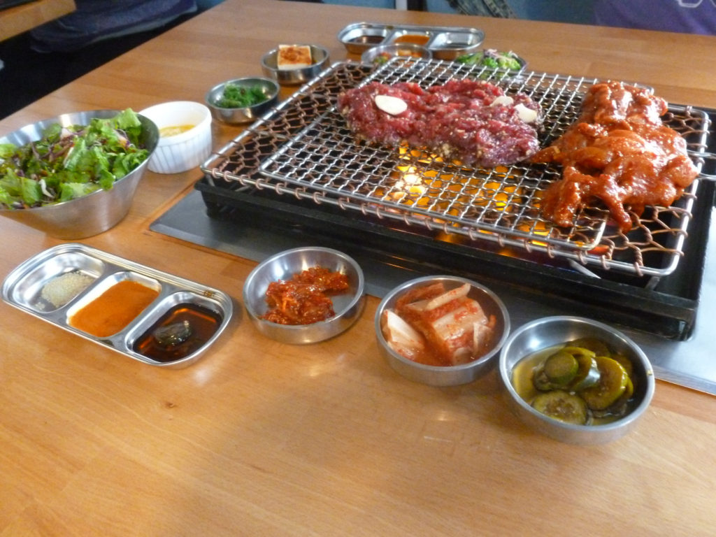 A Korean grill with meats (Photo by Frank Sabatini Jr.)