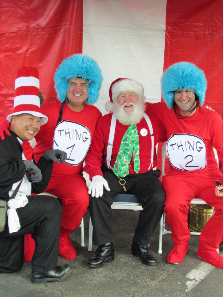 Santa Claus and Dr. Seuss characters at last year's holiday event at San Diego Center for Children (Courtesy of San Diego Center for Children)