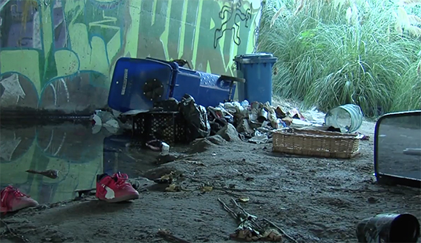 City cleans up riverbed, offers services to homeless living there to combat hepatitis A outbreak