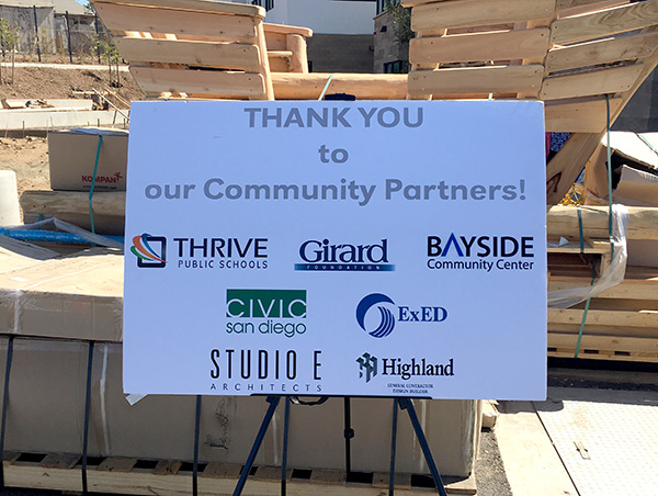 civic san diego celebrates opening of thrive school mission valley news. Black Bedroom Furniture Sets. Home Design Ideas